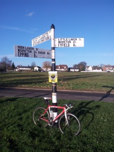 My bike and a signpost #3
