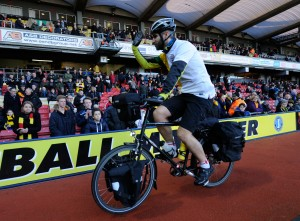 Andy cycling pitch side 2