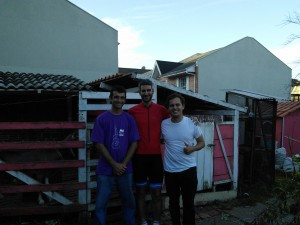 With Ricardo and house owner Eduardo