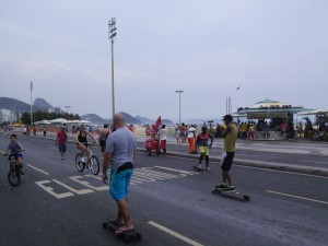 Copacabana pedestrianised on Sunday