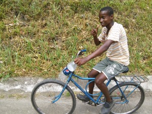 This local lad cycled with me for 5 mins, chatting away in Portuguese, despite me trying to tell I didn't understand!