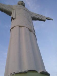 ...beneath this guy! A smaller replica of Rio's statue.
