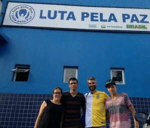 At Laureus project Luta Pela Paz (Fight For Peace) in Rio