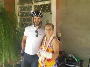 At 73 years old, Braulio's Grandmother was still cycling until unfortunately a recent accident caused by a motorcyclist injured her arm