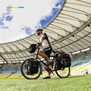 Team #SambaCycle at the Maracana