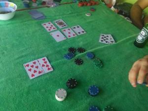 My game winning hand: flush beats straight!