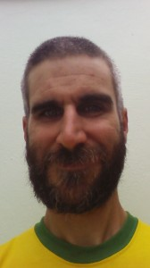 Short hair, bushy beard
