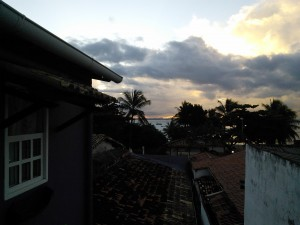 My room (on the left) with a view