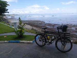 Then I set off on a 90km cycle tour of the island...