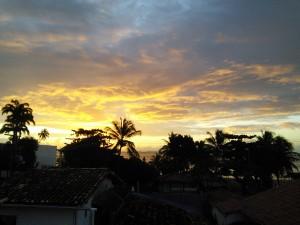 Back at the pousada, dawn this morning