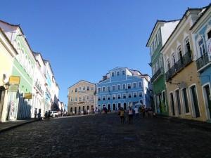 Fundação Casa de Jorge Amado (blue building)