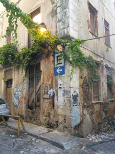 Derelict street corner