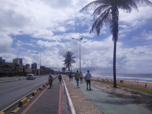 Lovely cycle path along the east coast of Salvador