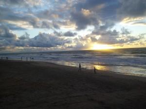 Easter Sunday sunrise swim and stroll