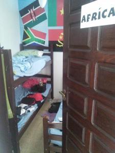 I stayed at Brazuka Hostel in this tiny 3 bed dorm