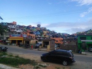 Colourful favela town