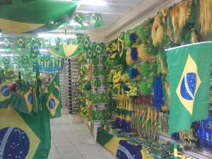 The shops are filled with Brazil tat!