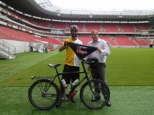 With Gareth Moore, the British Consul in Recife