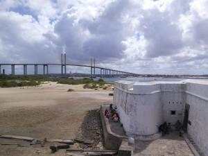 Bridge / fort / TV crew