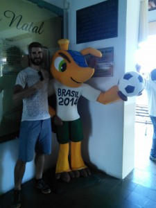 With the World Cup mascot