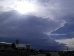 Impressive cloud over Mossoro