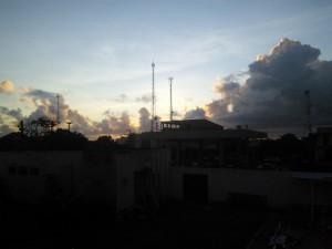 Dawn this morning
