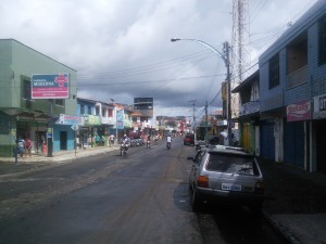 Itarema - typical motorbike filled main street