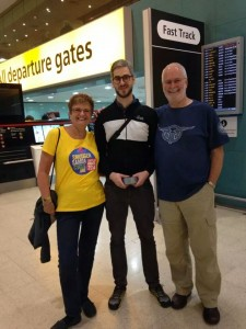 Departing Heathrow this morning (those #SambaCycle superfans get everywhere!)