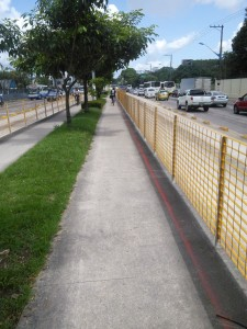 Good cycle path into Belem, apart from...