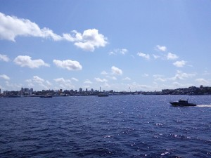 Finally, Manaus! But not until after a stop and search by the river police!