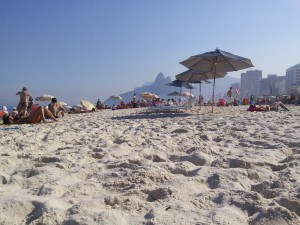 Ipanema - my view looking right, and...