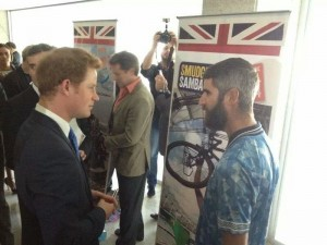 When Smudger met Prince Harry