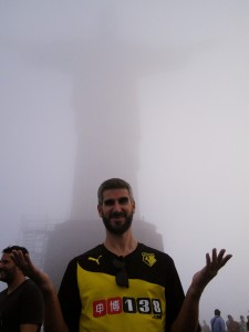 And Christ The Redeemer, in zero visibility!