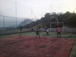 Had a kick around with some local kids on the convent pitch